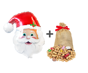 geschenkballon weihnachtsmann set 1