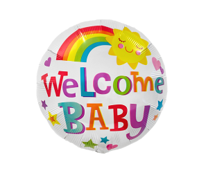 geschenkballon welcome baby 1