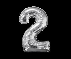 geschenkballon zahl 2 1