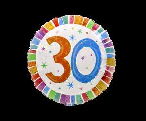 geschenkballon zahl 30 farbig 1