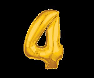 geschenkballon zahl 4 gold 1
