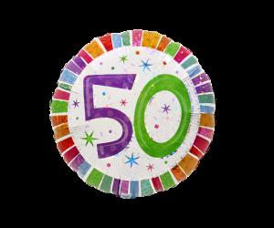 geschenkballon zahl 50 farbig 1