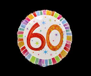 geschenkballon zahl 60 farbig 1