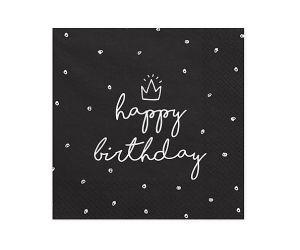 happy birthday crown servietten 1