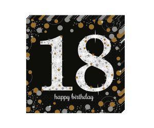 happy birthday elegant servietten 18