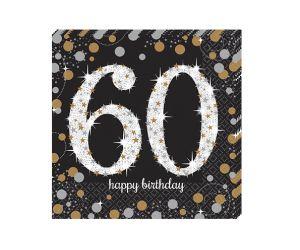 happy birthday elegant servietten 60