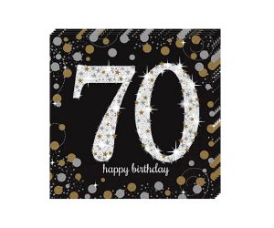 happy birthday elegant servietten 70