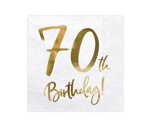 happy birthday elegant servietten 70 gold 1