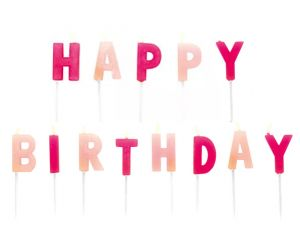 happy birthday kerzen pink 1