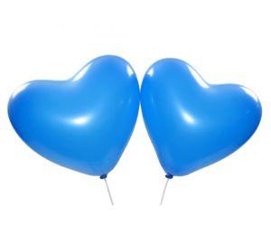herzballons blau 1