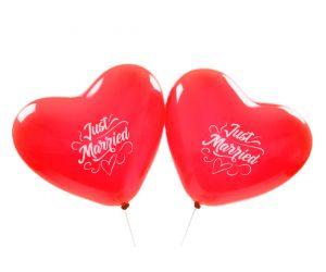 herzballons justmarried rot 1