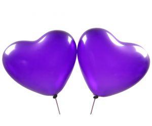 herzballons violett 1