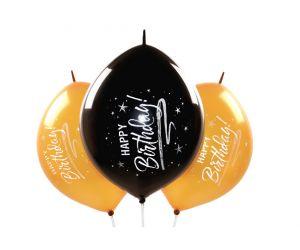 kettenballons happy birthday gold 1