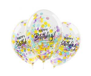 konfettiballons happy birthday assortiert 1