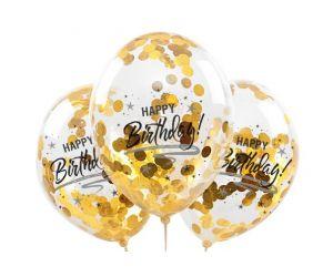 konfettiballons happy birthday gold 1
