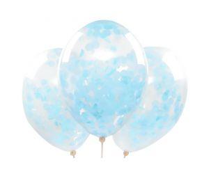 konfettiballons hellblau 1