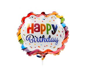 mini folienballon happy birthday 1