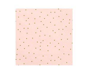 punkte servietten rosa 1