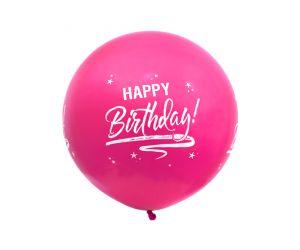 riesenballon geburtstag pink 1