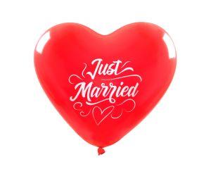 riesenballon herz just married 1