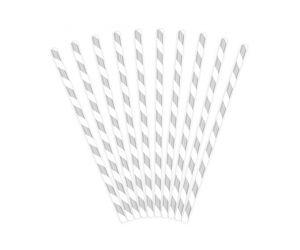 trinkhalme papier silber 1