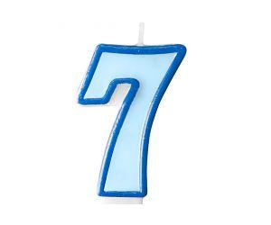 zahlenkerze 7 blau 1