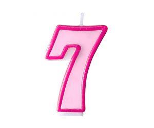 zahlenkerze 7 rosa 1