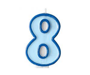 zahlenkerze 8 blau 1