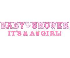 babyshower banner girl
