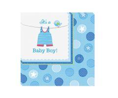 babyshower servietten boy