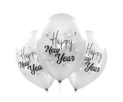 ballons happy new year silber 1