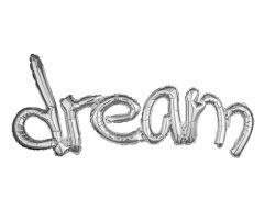 ballons schriftzug dream silber 1