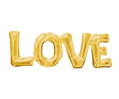 ballons schriftzug love gold 1