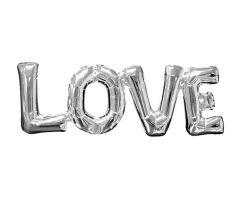 ballons schriftzug love silber 1