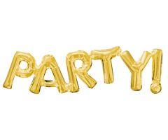 ballons schriftzug party gold 1