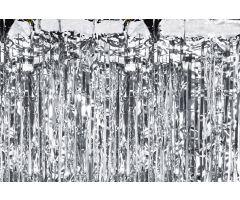 deko vorhang silber 1
