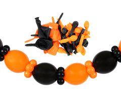 girlande self orange schwarz 1