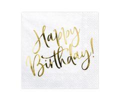 happy birthday gold servietten 1