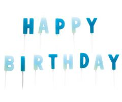 happy birthday kerzen blau 1