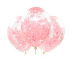konfettiballons rosa 1