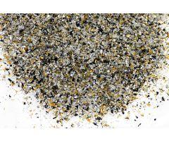 metallic streussel schwarzsilbergold